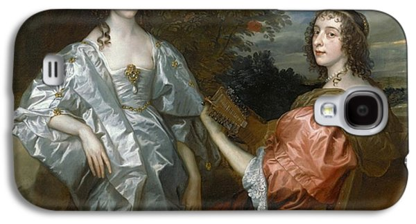 1636 Paintings Galaxy S4 Cases - Countess of Chesterfield Galaxy S4 Case by Anthony van Dyck