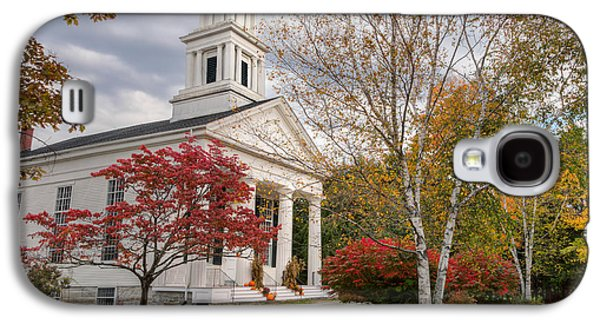 Autumn In The Country Galaxy S4 Cases - Country Chapel Galaxy S4 Case by Bill  Wakeley