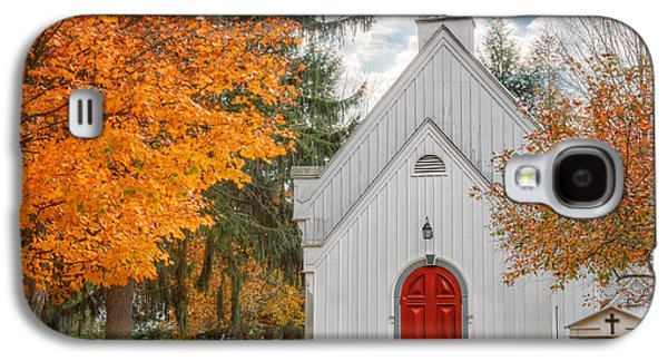 Autumn In The Country Galaxy S4 Cases - Country Church Galaxy S4 Case by Bill  Wakeley