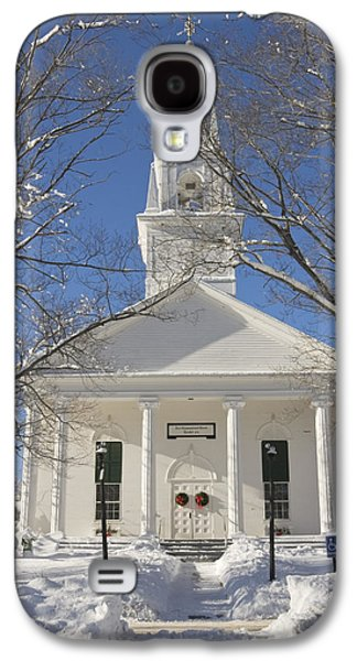Maine Winter Galaxy S4 Cases - Country Church In Winter Maine Galaxy S4 Case by Keith Webber Jr