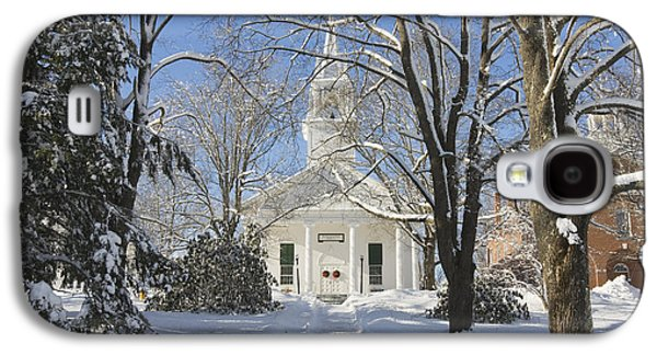Maine Winter Galaxy S4 Cases - Country Church In Winter Wiscasset Maine Galaxy S4 Case by Keith Webber Jr