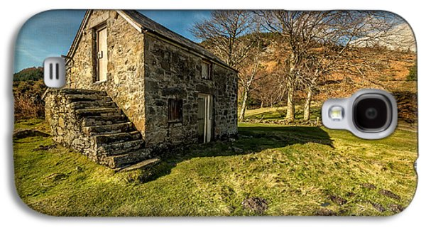 Stone Buildings Galaxy S4 Cases - Country Cottage Galaxy S4 Case by Adrian Evans