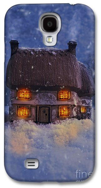 Snowy Evening Galaxy S4 Cases - Country Cottage Galaxy S4 Case by Amanda And Christopher Elwell