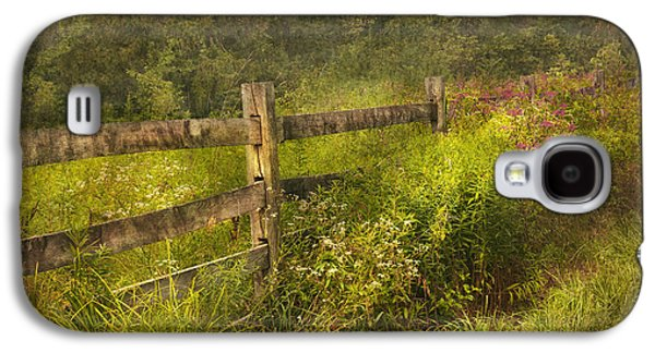 Country Scenes Galaxy S4 Cases - Country - Fence - County border  Galaxy S4 Case by Mike Savad