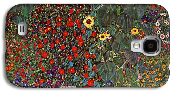Recently Sold -  - Abstract Nature Galaxy S4 Cases - Country Garden with Sunflowers Galaxy S4 Case by Gustav Klimt