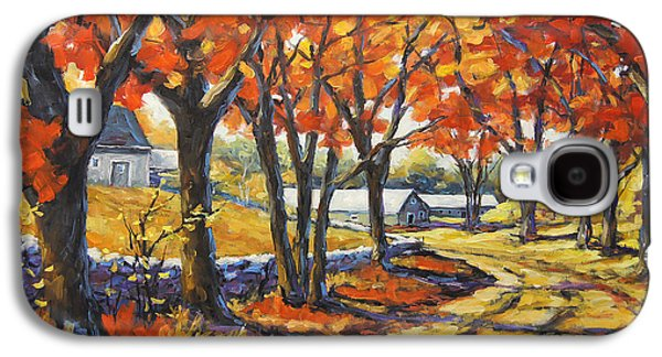Montreal Paintings Galaxy S4 Cases - Country Lane Sentinals  created by Prankearts Galaxy S4 Case by Richard T Pranke