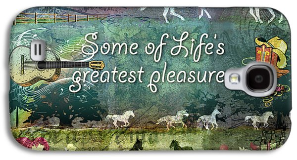 Western Digital Art Galaxy S4 Cases - Country Pleasures Galaxy S4 Case by Evie Cook