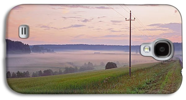 Telephone Poles Galaxy S4 Cases - Country Road And Telephone Lines Galaxy S4 Case by Panoramic Images