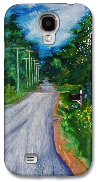 Rural Maine Roads Galaxy S4 Cases - Country Road Galaxy S4 Case by Nancy Milano