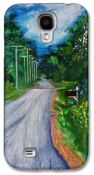 Maine Roads Paintings Galaxy S4 Cases - Country Road Galaxy S4 Case by Nancy Milano