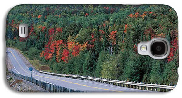 Telephone Poles Galaxy S4 Cases - Country Road Ontario Canada Galaxy S4 Case by Panoramic Images