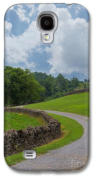 Kaypickens.com Galaxy S4 Cases - Country Road with Limestone Fence Galaxy S4 Case by Kay Pickens