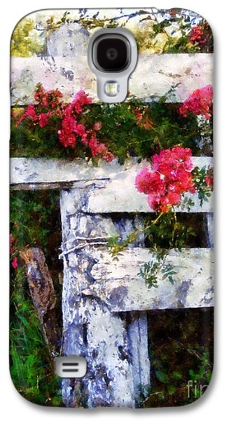 Country Rose On A Fence 2 Galaxy S4 Case by Janine Riley