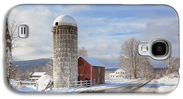 Connecticut Landscape Galaxy S4 Cases - Country Snow Galaxy S4 Case by Bill  Wakeley