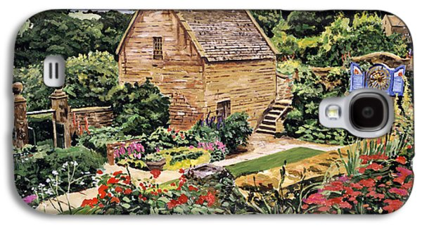 Pathway Paintings Galaxy S4 Cases - Country Stone Manor House Galaxy S4 Case by David Lloyd Glover