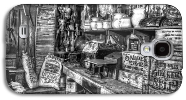 Country Store Galaxy S4 Cases - Country Store Supplies Black and White Galaxy S4 Case by Ken Smith