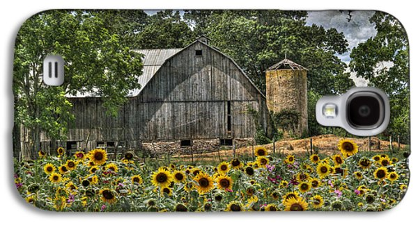 Rural Scenes Digital Galaxy S4 Cases - Country Sunflowers Galaxy S4 Case by Lori Deiter