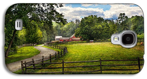 Old Country Roads Photographs Galaxy S4 Cases - Country - The pasture  Galaxy S4 Case by Mike Savad