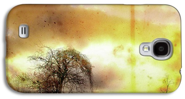 Nature Scene Digital Art Galaxy S4 Cases - Country Tree Galaxy S4 Case by Gothicolors Donna Snyder