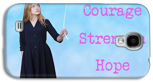 Awareness Galaxy S4 Cases - Courage.  Strength.  Hope. Galaxy S4 Case by Juli Scalzi