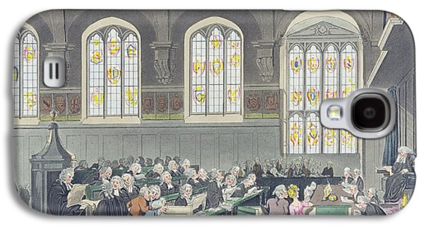 Trial Galaxy S4 Cases - Court Of Chancery, Lincolns Inn Hall, Engraved By Constantine Stadler Fl.1780-1812, 1808 Coloured Galaxy S4 Case by T. Rowlandson
