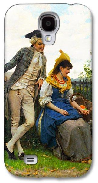 Garden Scene Galaxy S4 Cases - Courtship Galaxy S4 Case by Federico Andreotti