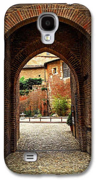 Religious Galaxy S4 Cases - Courtyard of Cathedral of Ste-Cecile in Albi France Galaxy S4 Case by Elena Elisseeva