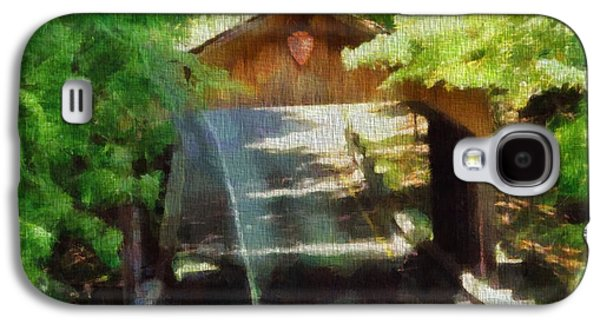 Covered Bridge Paintings Galaxy S4 Cases - Covered Bridge In Sleeping Bear Dunes National Lakeshore Galaxy S4 Case by Dan Sproul