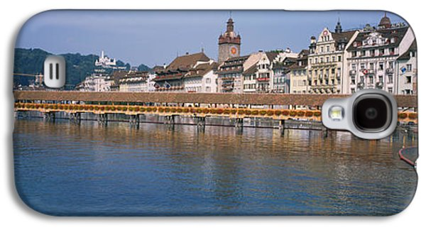 Lucerne Galaxy S4 Cases - Covered Bridge Over A River, Chapel Galaxy S4 Case by Panoramic Images