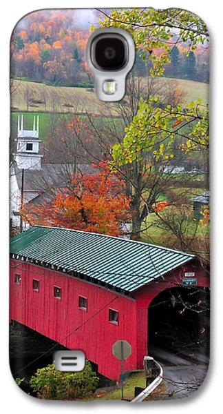 Covered Bridge-west Arlington Vermont Galaxy S4 Case by Thomas Schoeller