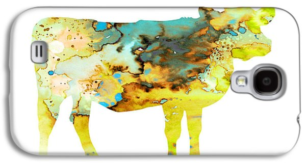 Cows Paintings Galaxy S4 Cases - Cow 3 Galaxy S4 Case by Luke and Slavi