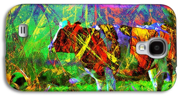 Cow Digital Galaxy S4 Cases - Cow in Abstract 7D4316 Galaxy S4 Case by Wingsdomain Art and Photography