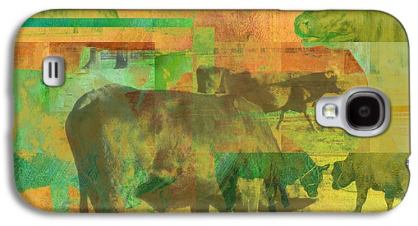 Rural Scenes Digital Galaxy S4 Cases - Cow Pasture Collage Galaxy S4 Case by Ann Powell