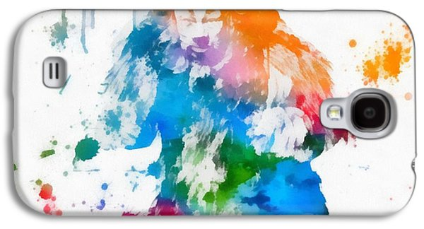 Courage Paintings Galaxy S4 Cases - Cowardly Lion Wizard Of Oz Paint Splatter Galaxy S4 Case by Dan Sproul