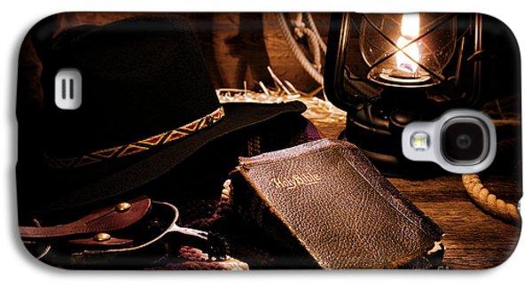 Cowboy Bible Galaxy S4 Case by Olivier Le Queinec