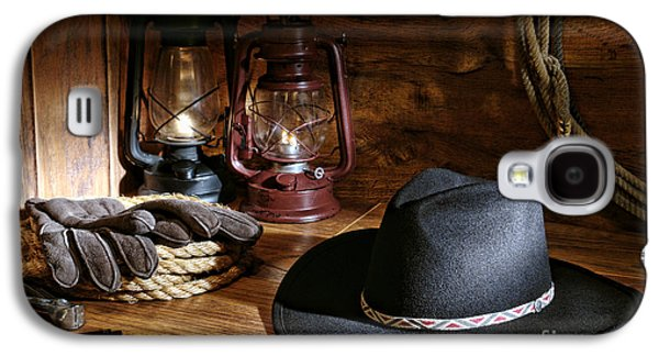 Kerosene Galaxy S4 Cases - Cowboy Hat and Tools Galaxy S4 Case by Olivier Le Queinec