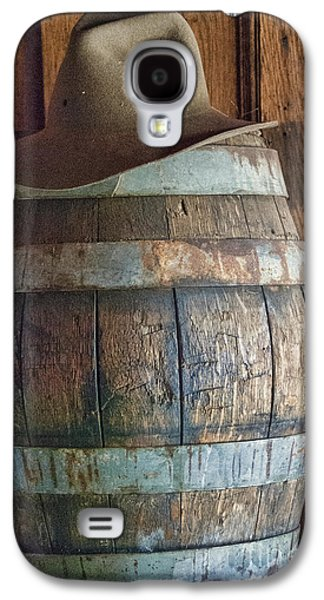 Cowboy Hat On Old Wooden Keg Galaxy S4 Case by Juli Scalzi