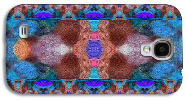 Blue Abstracts Tapestries - Textiles Galaxy S4 Cases - Cowboy Stripe Galaxy S4 Case by ArtCraftE Shop