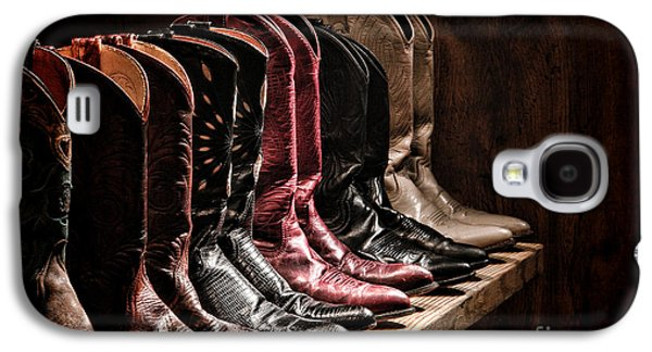 Folklore Galaxy S4 Cases - Cowgirl Boots Collection Galaxy S4 Case by Olivier Le Queinec