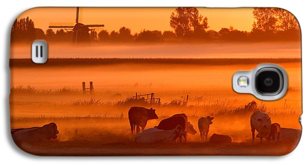 Frontal Galaxy S4 Cases - Cows in the Mist Galaxy S4 Case by Roeselien Raimond