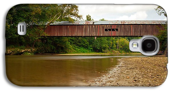 Indiana Landscapes Photographs Galaxy S4 Cases - Cox Covered Bridge Galaxy S4 Case by Jackie Novak
