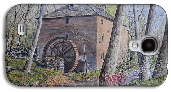 Grist Mill Paintings Galaxy S4 Cases - Cox Mill Galaxy S4 Case by Russell Fox