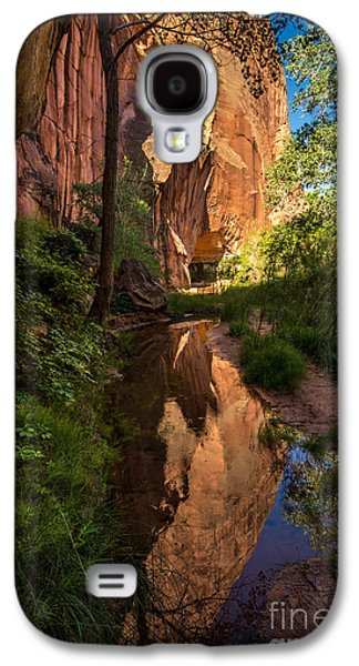 Holes In Sandstone Galaxy S4 Cases - Coyote Gulch Canyon Reflection - Utah Galaxy S4 Case by Gary Whitton