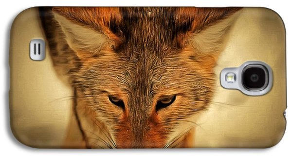 Levi Galaxy S4 Cases - Coyote Galaxy S4 Case by Levi Saunders