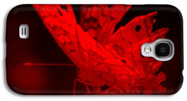 Nature Abstracts Galaxy S4 Cases - Cracked Wing Close Red Galaxy S4 Case by Rob Hans