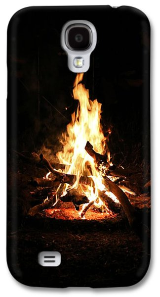 Fire Galaxy S4 Cases - Crackling Bush Campfire Galaxy S4 Case by StaJa Photography