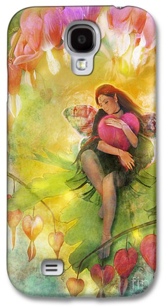 Fairy Hearts Pink Flower Galaxy S4 Cases - Cradle Your Heart Galaxy S4 Case by Aimee Stewart