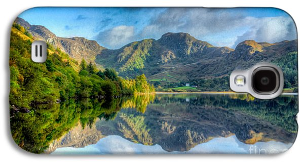 North Wales Digital Art Galaxy S4 Cases - Craf Nant Lake Galaxy S4 Case by Adrian Evans