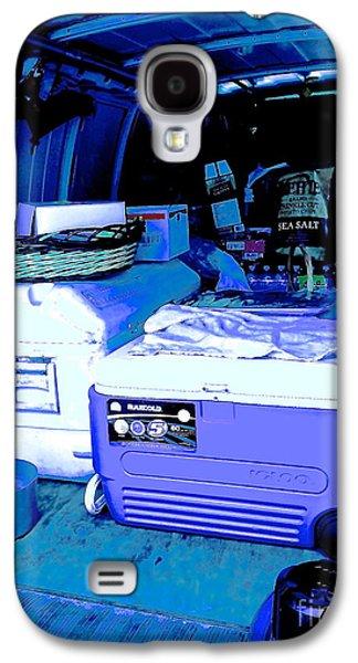 Behind The Scenes Digital Galaxy S4 Cases - Crafty Van In Blue Galaxy S4 Case by Diane Phelps