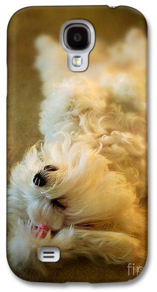 Puppy Digital Galaxy S4 Cases - Crash Landing Upside Down Galaxy S4 Case by Lois Bryan
